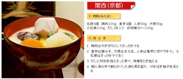 関西(京都)のお雑煮