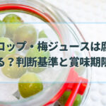梅シロップ 腐る