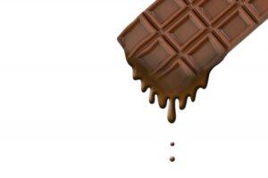 チョコが 溶ける